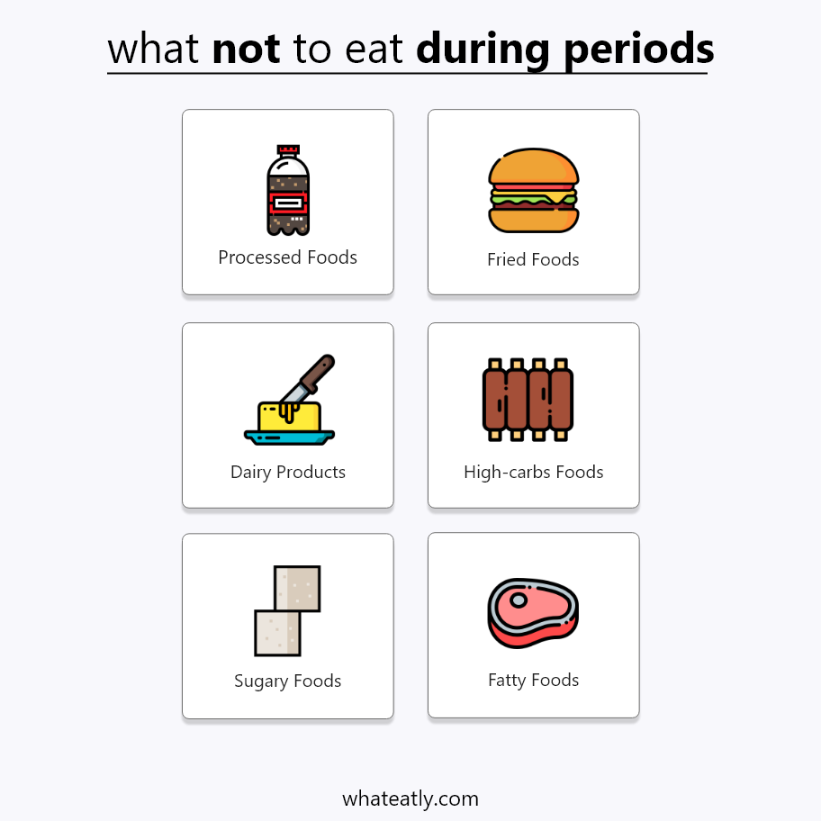 what not to eat during periods - infographic